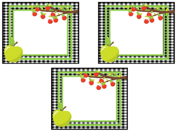 Apple themed Printable Blank Label Cards. Class Accessories.