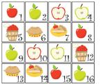 Apple themed Printable Calendar Pieces Classroom Bulletin Board Set. Class Acce