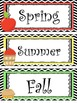 Apple themed Printable Classroom Accessories and Decor Bulletin Board Sets