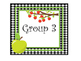 Apple themed Printable Group Number Signs and Labels. Clas