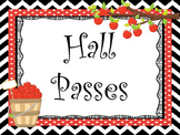 Apple themed Printable Hall Pass Sign and Hall Passes. Classroom  Management.