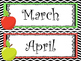 Apple themed Printable Month Classroom Bulletin Board Set.