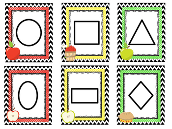 Apple themed Printable Weekly Focus Bulletin Board Set. Class Accessories.