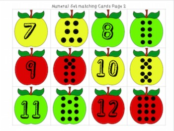 Apple themed literacy and math centers- apple activities for prek-first