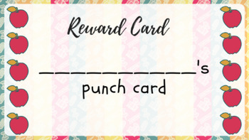 Apple-themed printable punch cards