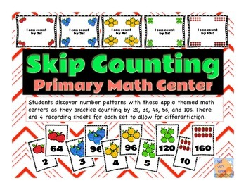 Apple Themed--Skip Counting Primary Math Center