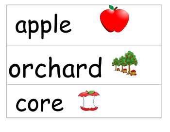 Apple themed vocab/word wall cards