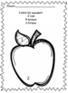 Apple themed worksheets