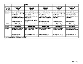 Apple themes week long unit