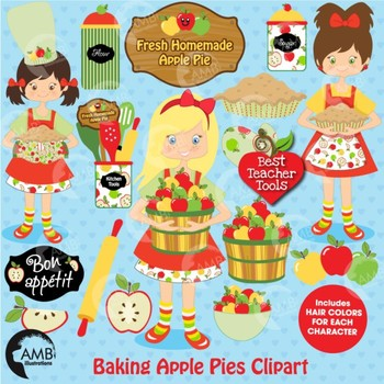 Apple Clipart, Apple Picking, Baking Clipart, AMB-137