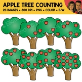 Apple Tree Counting Scene Clipart