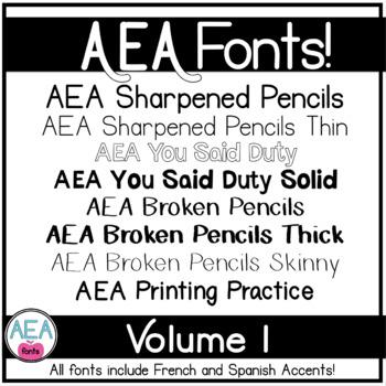Apple-y Ever After Fonts Volume 1