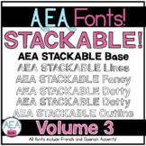 Apple-y Ever After Fonts Volume 3 - STACKABLE FONTS!
