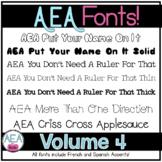 Apple-y Ever After Fonts Volume 4