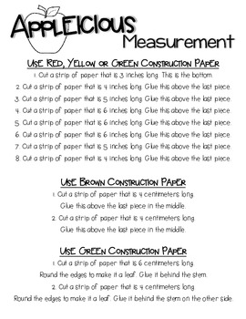 Appleicious Measurement Craft-  Inches and Centimeters