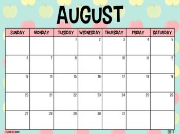Editable Calendars {Apples}