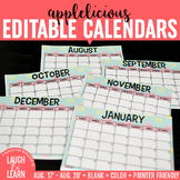 Editable Calendar // Apples {August 2017 - 2020}