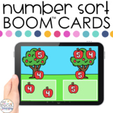 Apples 0-20 Number Sort Boom™ Cards - Distance Learning fo
