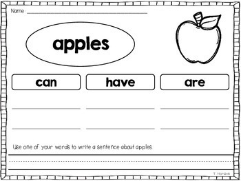 Apples - Literacy and Math Activities and Printables
