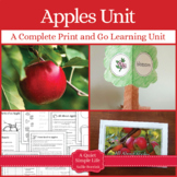 Apples Unit with Life Cycle Craftivity