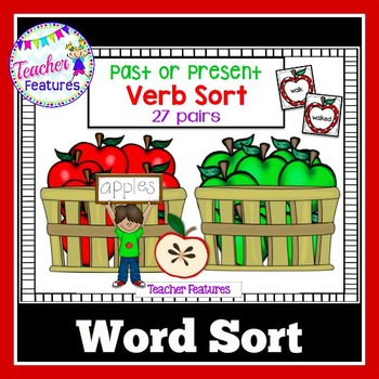 Apple Theme: Past and Present Verb Word Sort
