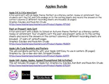 Apple Literacy Center Bundle