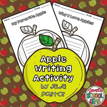 Apples Writing Prompts Activities