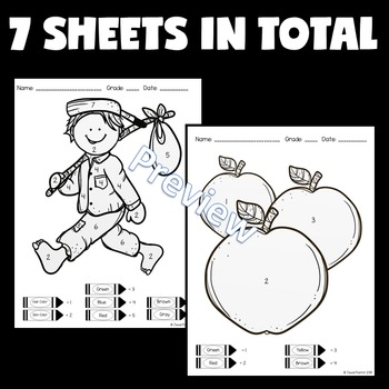 Apples Math Activities (Apples Color By Number)