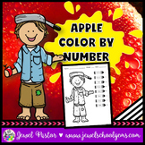 Apple Math Activities (Apple Color By Number Pages)
