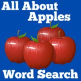 Apples | Word Search Worksheet Activity | Kindergarten 1st
