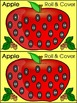 Apple Math Activities:  Apple Roll & Cover Math Activity Bundle - Color & BW