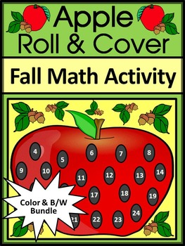 Apple Math Activities:  Apple Roll & Cover