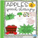 Apples 4 Speech Therapy SET 3