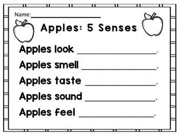 Apples: 5 Senses