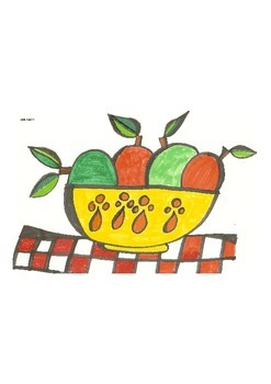 Elementary Visual Art Project - A Big, Bold Bowl of Apples