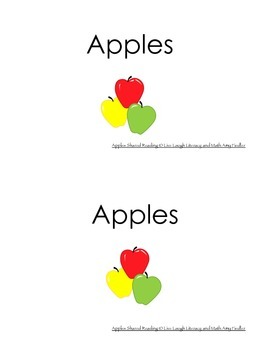 Apples- A Shared Reading Book