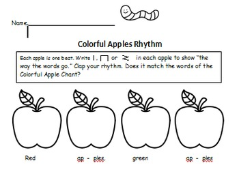 Apples A to Z Rhythms for You and Me