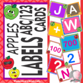 Classroom Labels Numbers and Letter Cards - Apples Decor