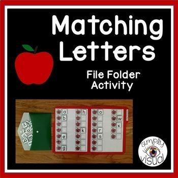 Apples ABC File Folder Activity