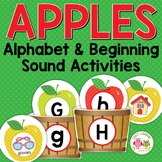 Apples Alphabet and Beginning Sound Activities for Prescho