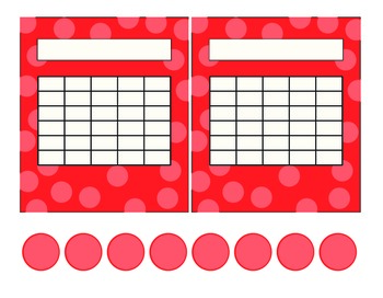 Apples AND Red Polka Dots Incentive Charts 2 Asst Styles