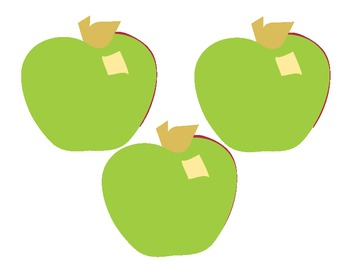 Apples Accents Red Green and Yellow