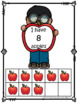Apples, Acorns and Leaves Ten Frames Number Flash Cards and Worksheets 0-10