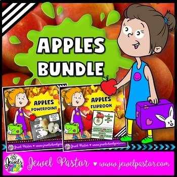 Apples Activities BUNDLE (PowerPoint and Flipbook)