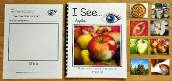 """Apples Adapted Book--""""I See Apples"""""""