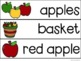 Apples Adapted Book & Student Book for ECSE and/or Elementary Special Education