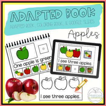 Apples Adapted Book & Student Book for Early Childhood Special Education