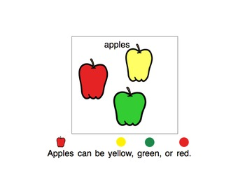 Apples (Adaptive Book and Color Sorting Activity)