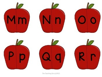 Apples!  Alphabet Uppercase & Lowercase Matching - A to Z