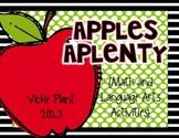 Apples Aplenty {Language Arts and Math Activities}